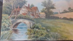 A group of three watercolours, signed: 'Chas Masters', framed and glazed, (16.5x23.5 cm). (3)