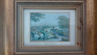 A group of three 'viable' colour printing by George Baxter (1804-1867) English, framed and
