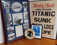"""Reproductions from TITANIC memorabilia comprising """"History of Events"""", Thomas Andrew's enginiering"""