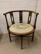 A mahogany corner chair