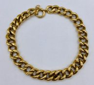 A Ladies 9ct gold charm bracelet 10.5g total weight