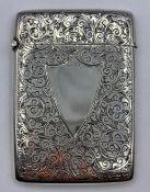 A Henry Pope silver card case, hallmarked Birmingham 1899 (75g) (9.5cm)