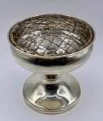 A 2001 silver rose bowl, hallmarked for Birmingham 2001 by W I Broadway & Co (Total weight 215g)