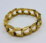 A 9ct gold Gents bracelet 41.8g Total weight
