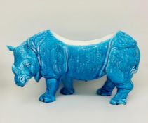 An Antique Chinese planter or bowl in the form of a Rhinoceros