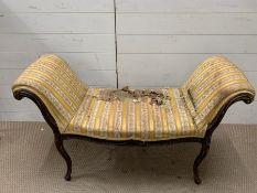 A mahogany window seat AF