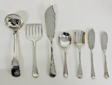 A selection of silver cutlery, various hallmarks (Total Weight 210g)