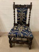 An 18th Century oak side chair