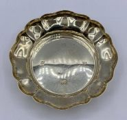 A scalloped edged dish by Barker Ellis Silver Co, hallmarked for Birmingham for 1971 Total Weight
