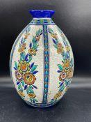 Charles Catteau Boche Freres Keramis Art Deco vase c. 1920s 30 cms. H (repaired chip to rim).