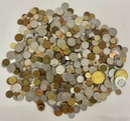 A collection of International coinage a wide range of countries, denominations and conditions.