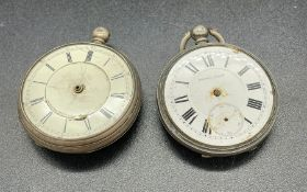A pair of AF silver pocket watches