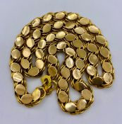 An 18ct gold necklace (31g)