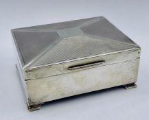 A silver cigarette box, Birmingham 1931