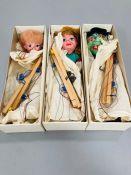 Pelham Puppets SL Gretel, SL Hansel, Wicked Witch.