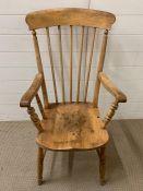A pine farm house Windsor kitchen chair
