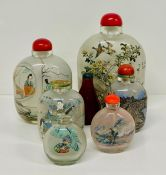 A collection of seven Chinese perfume or snuff bottles