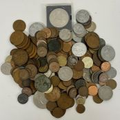 A selection of various coins, denominations, countries conditions etc.