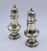 A Pair of silver salts (total weight 49g), hallmarked for Birmingham 1939 by William Hutton &