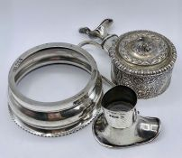 A selection of four silver items various makers and hallmarks AF (Total weight 247g)