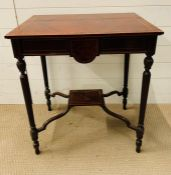Spillman and Co, St Martins Lane, London - Burr yew and mahogany silver table on reeded legs (