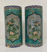 A pair of china vases
