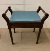 Two handled piano stool