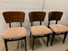 Three Mid Century chairs