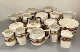 A selection of 1920's Celia Gibsons Dickens days china