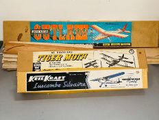 Two Keil Kraft boxed, model kits and Mercury flying scale model plane