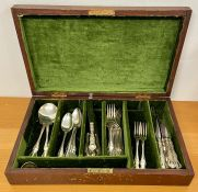A Canteen of silver plated cutlery