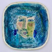 Liott ceramic plate, ladies face design