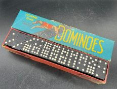 A set of greyhound Nine Spot Vintage Dominoes