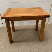 An light oak side table (H53cm W54cm D42cm)
