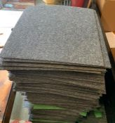 A selection of approx 280 carpet tiles, mainly grey and some green (50cmsq)