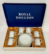 """A boxed set of six Royal Doulton """"Berkshire"""" cups and saucers"""