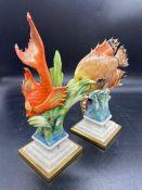 A Pair of Capodimonte figures of fish.