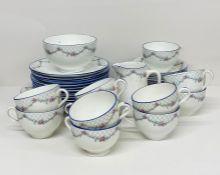 Collinwood bone china tea service with an English rose pattern