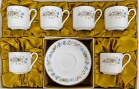 """A boxed set of six Royal Doulton """"Pastorale"""" cups and saucers"""