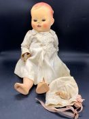 An 20th century baby doll with voice box (not working) AF