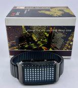 A Tokyo Flash TF0204 Pimpin' Ain't Easy BKPU Blue wristwatch in original box.