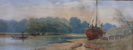 "Attributed to Thomas Leeson Scarse Rowbotham (1782/83-1853) British, ""At Teddington"", signed and"