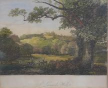 """A pair of 19th century hand-coloured engravings of """"St. Leonards Hill"""" (Windsor, Berkshire) by James"""