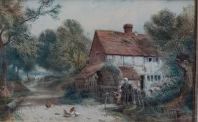 Attributed to Myles Birket Foster RWS (1825-1899) British, 'The young farmer', signed with