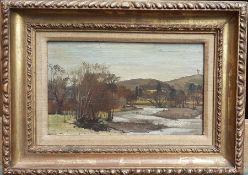 Derek Hill, CBE HRHA (1916-2000) English, 'Italian landscape' (Tuscany?), signed with initials lower
