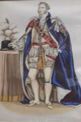 """A Member of the """"Order of the Garter"""", a coloured print, framed and glazed, (21.5x15 cm)"""