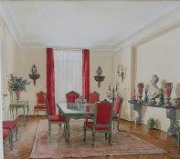 Ekaterina Serebriakova (1913-2014), aka Catherine Serebriakoff (Russian-born French painter), 'Red