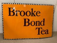 "A ""Brooke Bond Tea"" enamel sign (155cm x101cm)"