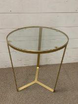 A glass circular side table (H50cm Dia40cm)