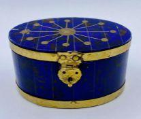 Interesting brass bound jewellery box.